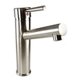 Fresca FFT1046BN Savio Single Hole Bathroom Faucet in Brushed Nickel