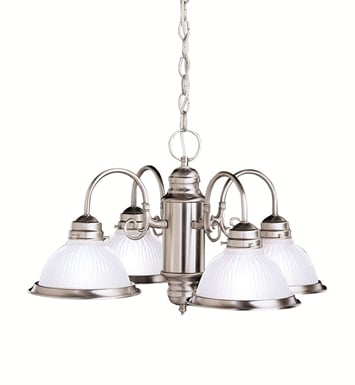 Kichler 1648NI Cape May Collection Chandelier 4 Light in Brushed Nickel