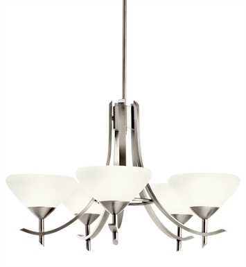 Kichler 10776AP Olympia Collection Chandelier 5 Light Fluorescent in Antique Pewter