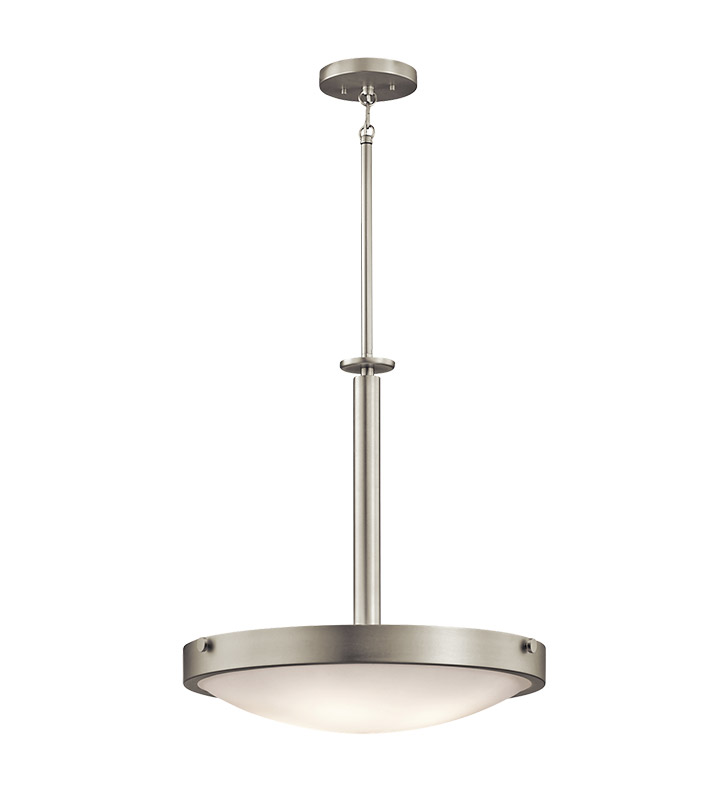 Kichler 42244NI Inverted Pendant 4 Light in Brushed Nickel