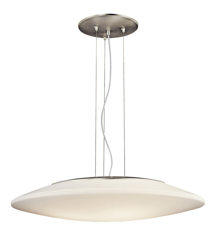 Kichler 10711NI Ara Collection Pendant 3 Light Fluorescent in Brushed Nickel