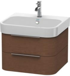"Duravit H26363 Happy D.2 22 5/8"" Wall Mount Single Bathroom Vanity with Two Drawers"