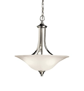 Kichler 10702NI Dover Collection Pendant 1 Light Fluorescent in Brushed Nickel