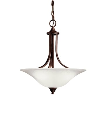 Kichler 10702TZ Dover Collection Pendant 1 Light Fluorescent in Tannery Bronze