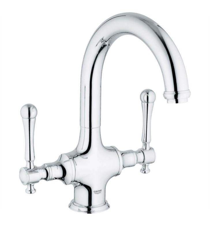 Grohe 31055 Bridgeford 10 7 8 Two Handle Deck Mounted Bar Kitchen Faucet