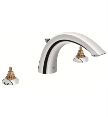 "Grohe 25071EN0 Arden 5 7/8"" Three Hole Widespread/Deck Mounted Roman Tub Filler With Finish: Brushed Nickel"