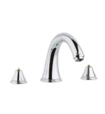 "Grohe 25054EN0 Geneva 7"" Three Hole Widespread/Deck Mounted Roman Tub Filler With Finish: Brushed Nickel"