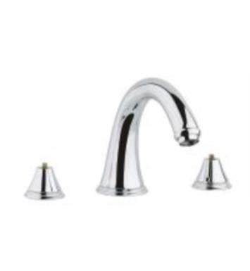 "Grohe 25054000 Geneva 7"" Three Hole Widespread/Deck Mounted Roman Tub Filler With Finish: StarLight Chrome"