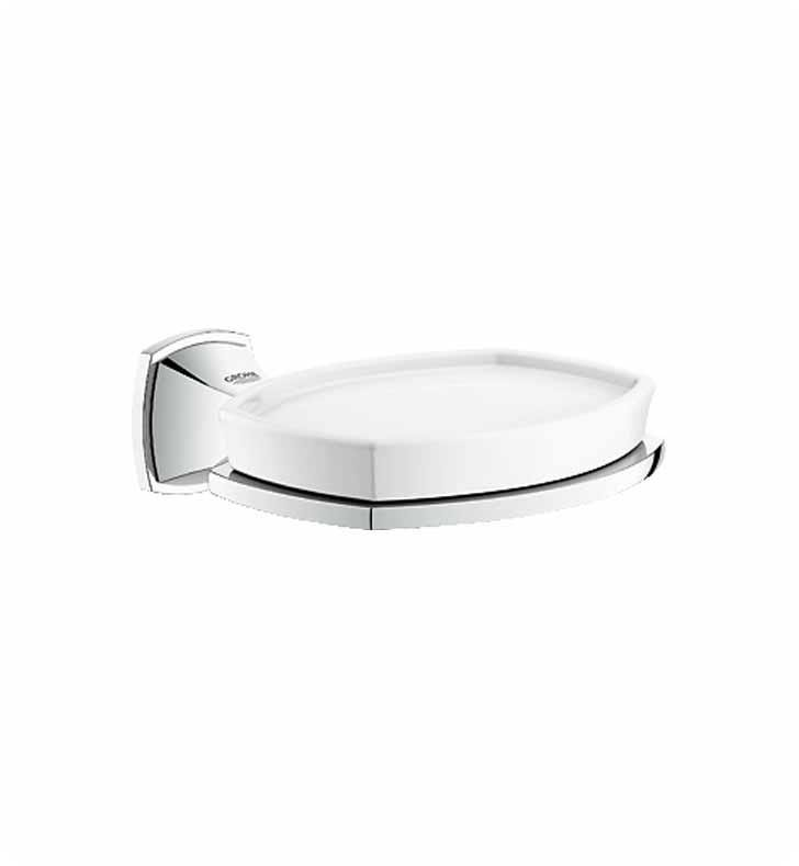 "Grohe 40628EN0 Grandera 5"" Wall Mount Soap Dish with Holder With Finish: Brushed Nickel"