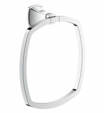 "Grohe 40630000 Grandera 7 1/8"" Wall Mount Towel Ring With Finish: StarLight Chrome"