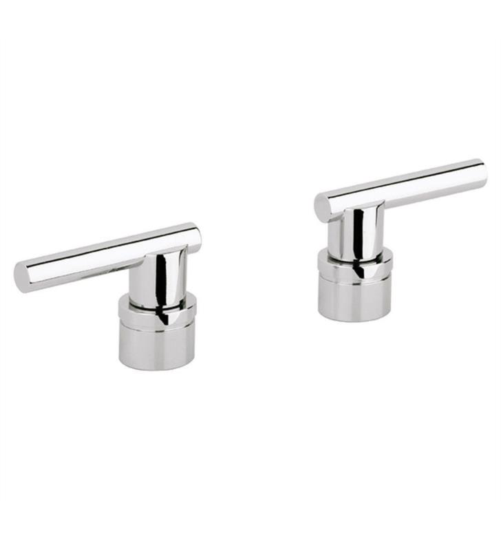 "Grohe 18034000 Atrio 3 1/8"" Jota Lever Handles for Roman Tub Filler With Finish: StarLight Chrome"