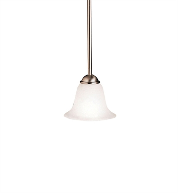 Kichler 2771NI Dover Collection Mini Pendant 1 Light in Brushed Nickel