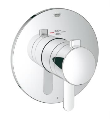 "Grohe 19869000 Europlus 6 3/4"" Single Function Thermostatic Trim with Control Module With Finish: StarLight Chrome"