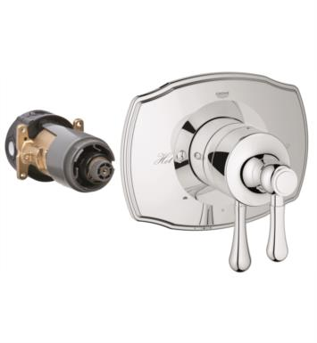 "Grohe 19844BE0 GrohFlex 7 1/2"" Authentic Dual Function Pressure Balance Trim with Control Module With Finish: Polished Nickel"