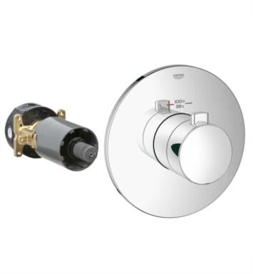 "Grohe 19879EN0 Europlus 4 5/8"" Custom Shower Thermostatic Trim with Control Module With Finish: Brushed Nickel"