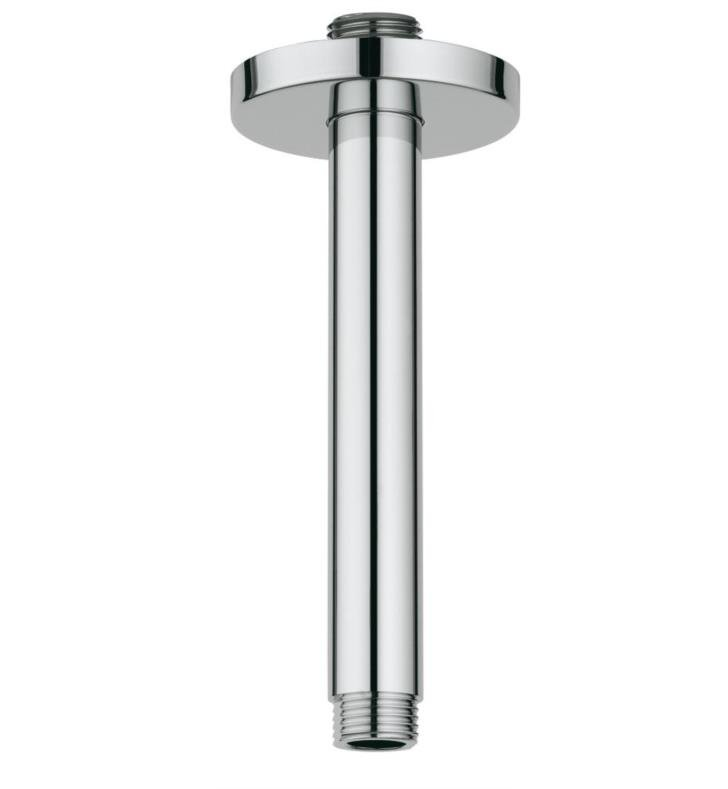 "Grohe 27217EN0 Rainshower 2 5/8"" Ceiling Shower Arm With Finish: Brushed Nickel"