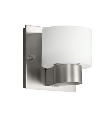 Kichler 10402NI Adao Collection Wall Sconce 1 Light Fluorescent in Brushed Nickel