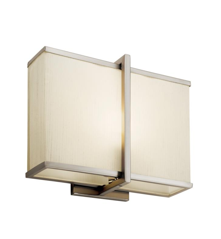 "Kichler 10421SN Rigel 1 Light 12"" Compact Fluorescent Wall Sconce in Satin Nickel"