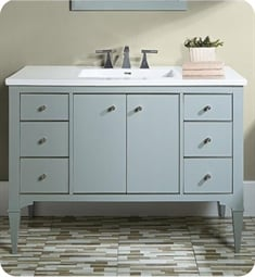 "Fairmont Designs 1510-V48A Charlottesville 48"" Free Standing Single Bathroom Vanity with Six Drawers in Light Gray"
