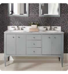 "Fairmont Designs 1510-V6021DA Charlottesville 60"" Free Standing Double Bathroom Vanity with Three Drawers in Light Gray"
