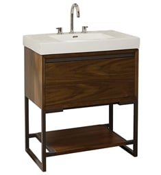 "Fairmont Designs 1505-VH3018 M4 28 7/8"" Free Standing Single Bathroom Vanity with One Drawer in Natural Walnut"