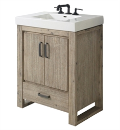 "Fairmont Designs 1530-V3018 Oasis 30"" Free Standing Single Bathroom Vanity with One Drawer in Sand Pebble"