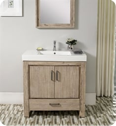 "Fairmont Designs 1530-V3618 Oasis 36"" Free Standing Single Bathroom Vanity with One Drawer in Sand Pebble"