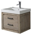 "Fairmont Designs 1530-WV2118 Oasis 21"" Wall Mount Single Bathroom Vanity with One Drawer in Sand Pebble"