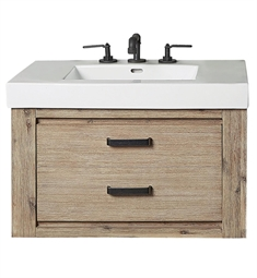 "Fairmont Designs 1530-WV3018 Oasis 30"" Wall Mount Single Bathroom Vanity with One Drawer in Sand Pebble"