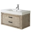 "Fairmont Designs 1530-WV3618 Oasis 36"" Wall Mount Single Bathroom Vanity with One Drawer in Sand Pebble"
