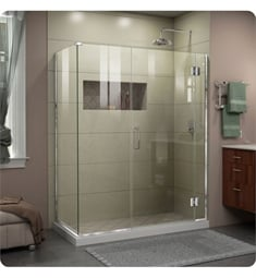 "DreamLine E1- Unidoor-X W 45 1/2"" to 47 1/2"" x D 30 3/8"" to 34 3/8"" x H 72"" Hinged Shower Enclosure"