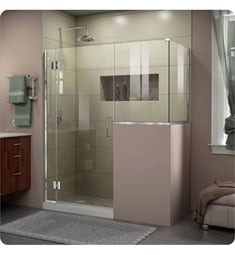 "DreamLine E- Unidoor-X W 57"" to 60"" x D 30 3/8"" to 40 3/8"" x H 72"" Hinged Shower Enclosure"