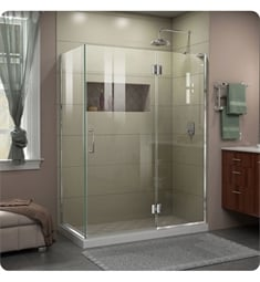 "DreamLine E32-0 Unidoor-X W 47 3/8"" to 48 3/8"" x D 30"" to 34"" x H 72"" Hinged Shower Enclosure"