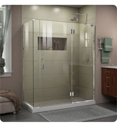 "DreamLine E32- Unidoor-X W 57 1/2"" to 59 1/2"" x D 30 3/8"" to 34 3/8"" x H 72"" Hinged Shower Enclosure"