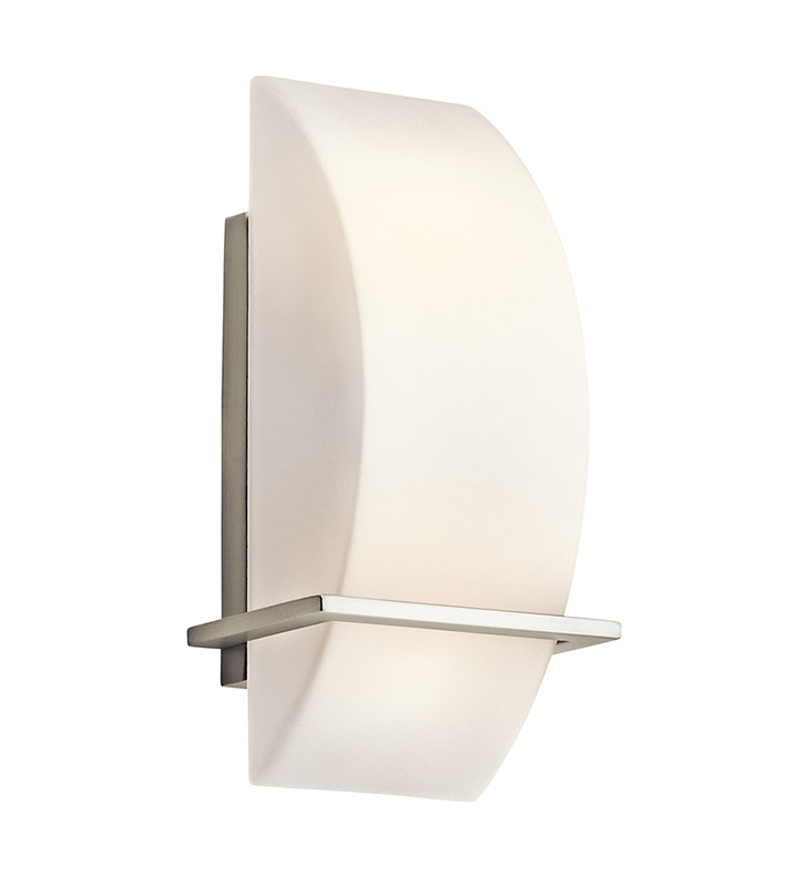 Kichler 45217NI Crescent View Collection Wall Sconce 2 Light in Brushed Nickel