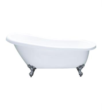 "Cambridge Plumbing AST67-NH-ORB Acrylic 66 1/2"" Freestanding Double Ended Clawfoot Slipper Bathtub With Tub Feet Finish: Oil Rubbed Bronze And Faucet Holes: No Faucet Drillings"