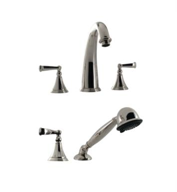 "Santec 2255CN88-TM Kriss I Roman Tub Filler Set With Hand Held Shower With ""CN"" Handles - (Uses P0003 Valve) With Finish: Bright Pewter <strong>(USUALLY SHIPS IN 4-5 WEEKS)</strong>"