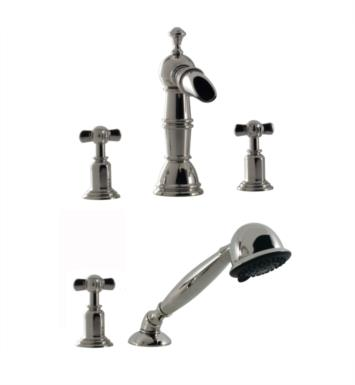 Santec 6155ET14-TM Roman Tub Filler Trim with ET Handles and Handheld - (Uses P0003 Valve) With Finish: Gunmetal Grey <strong>(USUALLY SHIPS IN 4-5 WEEKS)</strong>
