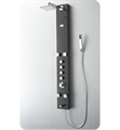 Fresca FSP8001BG Pavia Shower Massage Panel with Thermostatic Valve and Stainless Steel Body in Brushed Gray