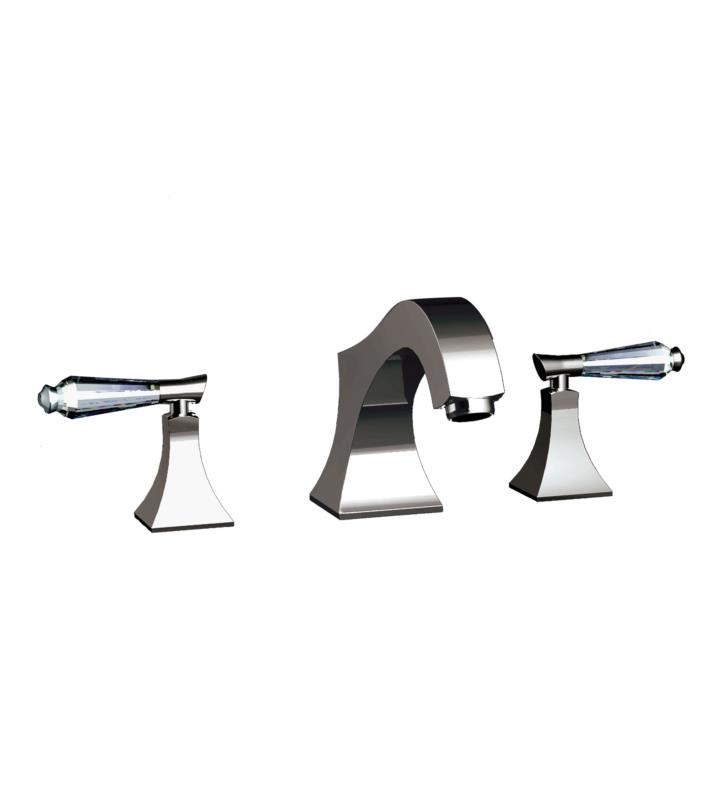 "Santec 9250DC14-TM Edo Crystal Roman Tub Filler Set With ""DC"" Handles - (Uses P0002 Valve) With Finish: Gunmetal Grey <strong>(USUALLY SHIPS IN 4-5 WEEKS)</strong>"