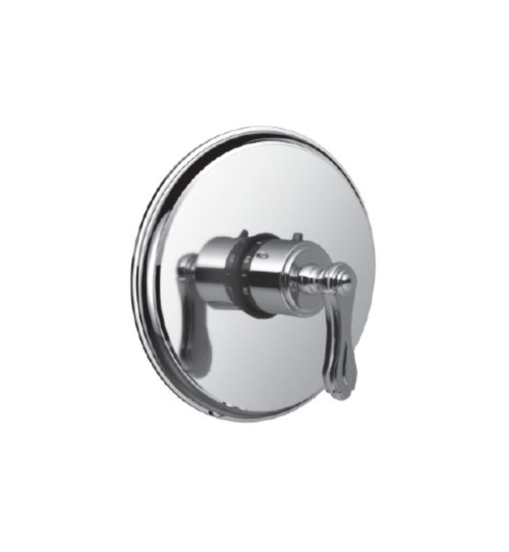 "Santec 7093BR28-TM Baroque Thermostatic Shower - Trim Only with BR Handle (Includes 3/4"" Trim Plate and Handle, Requires Separate Volume Control) Valve Not Included Uses TH-5034 Valve With Finish: Antique Brass <strong>(USUALLY SHIPS IN 4-5 WEEKS)</strong>"