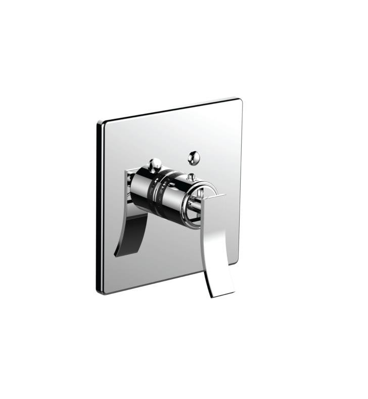 "Santec 7093CU20-TM Ava Thermostatic Shower - Trim Only with CU Handle (Includes 3/4"" Trim Plate and Handle, Requires Separate Volume Control) Valve Not Included Uses TH-5034 Valve With Finish: Orobrass <strong>(USUALLY SHIPS IN 4-5 WEEKS)</strong>"
