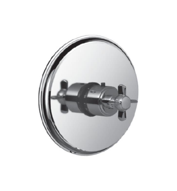 "Santec 7093ET49-TM Thermostatic Shower - Trim Only with ET Handle (Includes 3/4"" Trim Plate and Handle, Requires Separate Volume Control) Valve Not Included Uses TH-5034 Valve With Finish: Oil Rubbed Bronze <strong>(USUALLY SHIPS IN 4-5 WEEKS)</strong>"