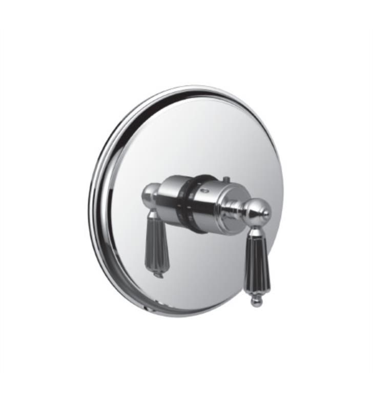 "Santec 7093LL45-TM Monarch I Thermostatic Shower - Trim Only with LL Handle (Includes 3/4"" Trim Plate and Handle, Requires Separate Volume Control) Valve Not Included Uses TH-5034 Valve With Finish: Satin Rose Gold <strong>(USUALLY SHIPS IN 4-5 WEEKS)</strong>"