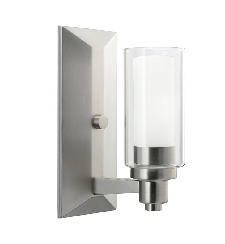 Kichler 6144NI Circolo Collection Wall Sconce 1 Light in Brushed Nickel