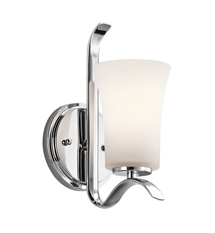 Kichler 45374CH Armida Collection Wall Sconce 1 Light in Chrome