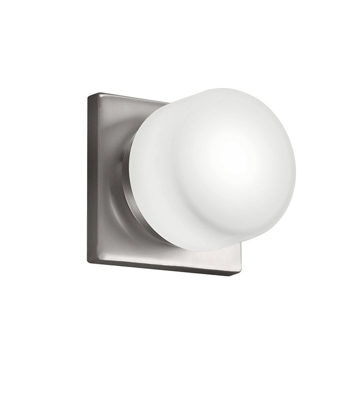 Kichler 10461NI Wall Sconce 1 Light Fluorescent in Brushed Nickel