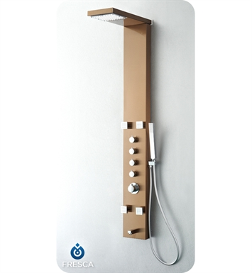 Fresca FSP8006BB Verona Shower Massage Panel with Thermostatic Valve and Stainless Steel Body in Brushed Bronze