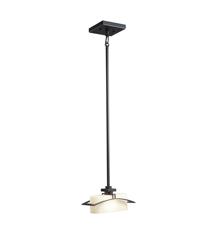 Kichler 42016BK Suspension Collection Mini Pendant 1 Light Halogen in Black Painted