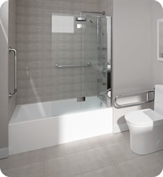 "Neptune Entrepreneur E121410 Astica 3060 AFR 59 3/4"" Customizable Alcove Rectangular Bathtub with Tiling Flange"